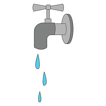 Faucet Clipart Water Faucet - Vintage Faucet Clip Art, HD Png Download -  kindpng