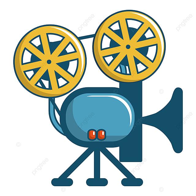 Retro Cinema Camera Icon Cartoon Style Camera Video Reel Png