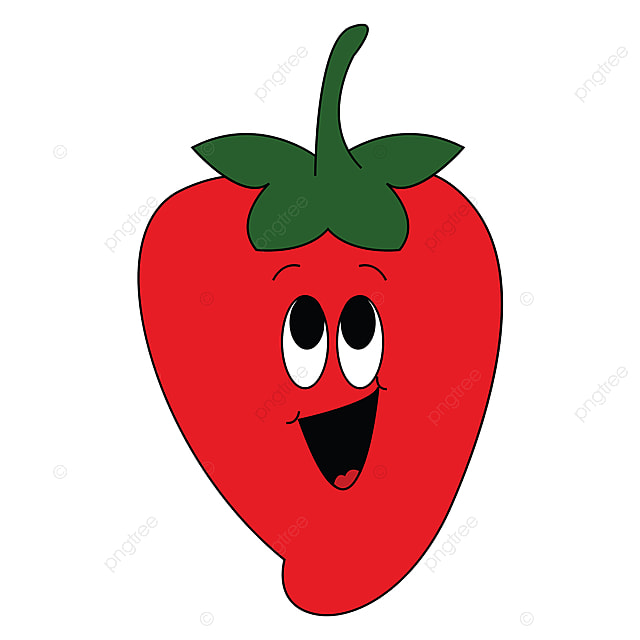 Emoji Of A Laughing Red Strawberry Vector Or Color