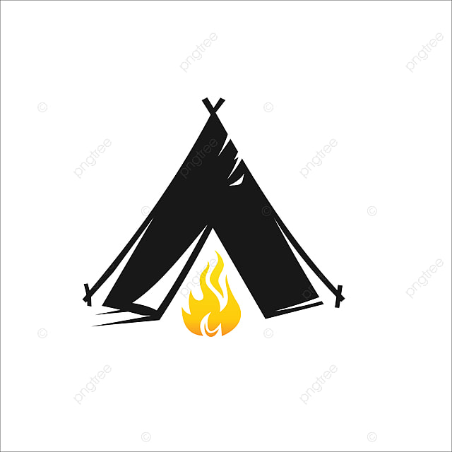 Camping Logo Design Vector, Vector, Illustration, Camp PNG