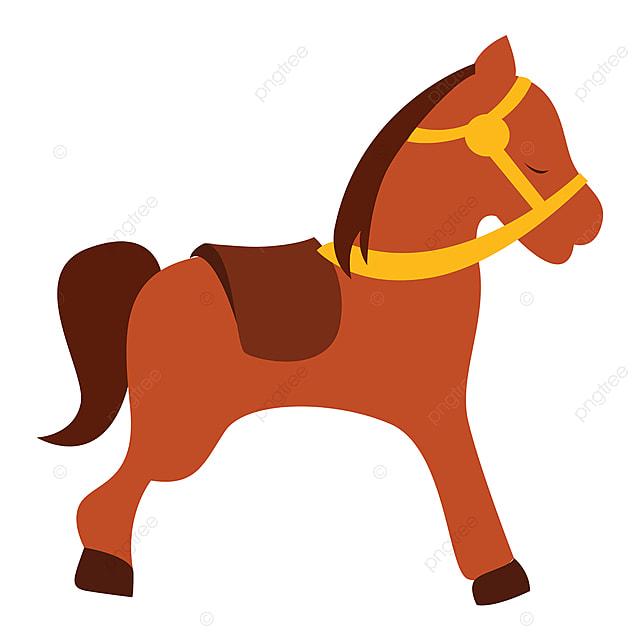 Vektor Ilustrasi Kuda Kecil Dengan Latar Belakang Putih Sedikit Kuda Poni Ilustrasi Png Dan Vektor Dengan Latar Belakang Transparan Untuk Unduh Gratis