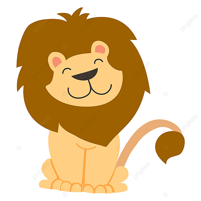 Mignon Petit Lion Illustration Vecteur Sur Fond Blanc Lion Le