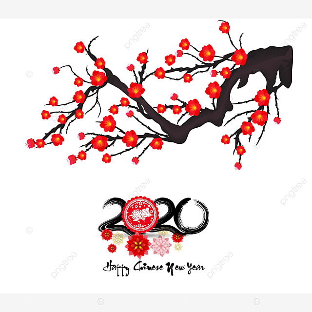 chinese new year 2020 year of the rat flowers and asian elements  chinese new year 2020  2020