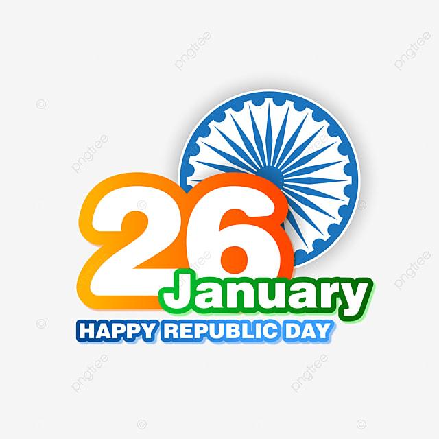 26 january image hd png january happy republic day of india with ashok chakra