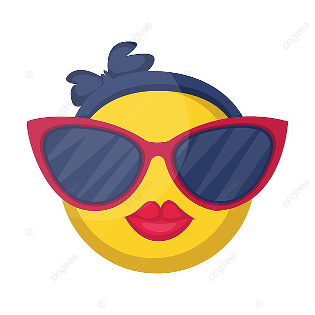 Round Female Emoji Yellow Face With Pink Lips And Big
