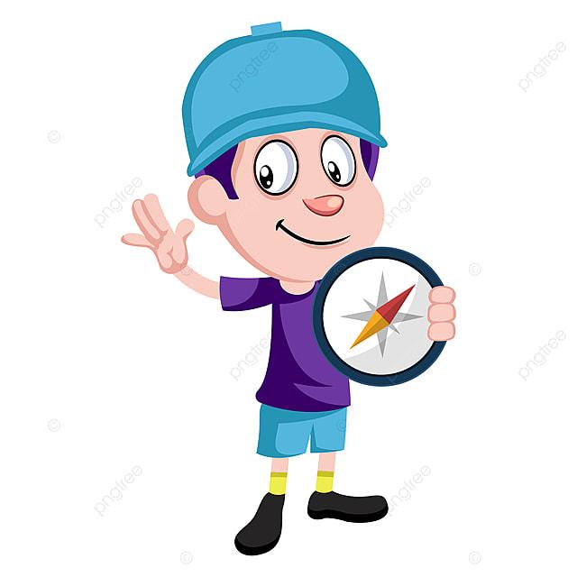Gambar Budak Memegang Kompas Vektor Ilustrasi Pada Latar Belakang Putih Anak Laki Laki Ilustrasi Vektor Png Dan Vektor Untuk Muat Turun Percuma