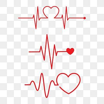 pngtree heart rhythm set electrocardiogram ecg png image 2111425