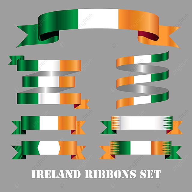 Pita Bendera Irlandia Diatur Tradisi Label Eropa Png Dan Vektor Dengan Latar Belakang Transparan Untuk Unduh Gratis