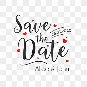Save The Date Wedding Png Images