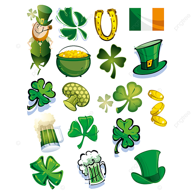 Happy Saint Patrick Day Elements Happy Saint Patrick Day Design 17th March Saint Patrick Day Invitation Card Png And Vector With Transparent Background For Free Download