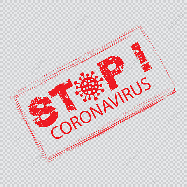 Red Vector Distress Seal Stamp With Stop Coronavirus Text Acute