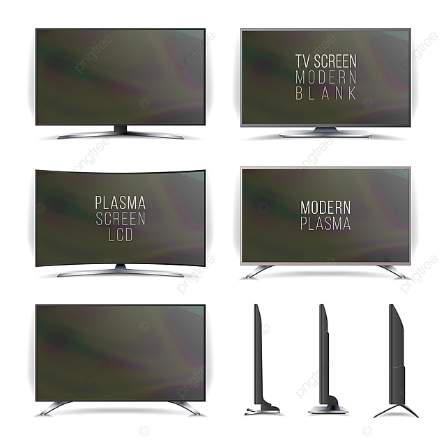 Screen Lcd Plasma Vector Television Set Tv Monitor Television Png And Vector With Transparent Background For Free Download