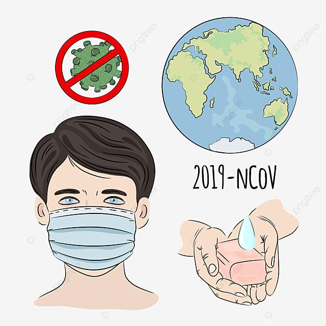 ncov stop coronavirus health earth human epidemic pneumonia danger medicine vector illustration set