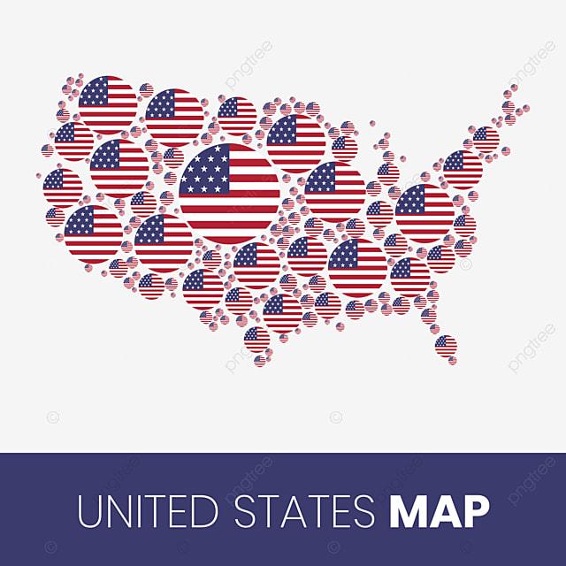 Cartina Geografica Degli Stati Uniti Di America.Mappa Usa Riempito Con Cerchi A Forma Di Bandiera Mappa Degli Stati Uniti D America Con Bandiera Usa Carta Geografica Stati Uniti Png E Vector Per Il Download Gratuito