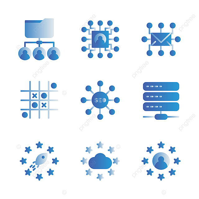 basic vector search engine optimization icon include share user share document circuit mail swot weakness opportunities search engine optimization icon include