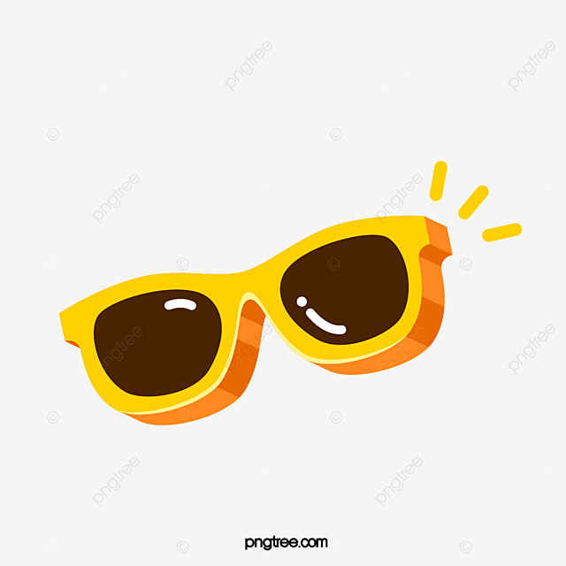 yellow cartoon sunglasses, sunglasses clipart, sunglasses, glasses png and  vector with transparent background for free download  pngtree