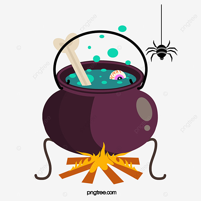 Happy Halloween Scary Poison Spider Cauldron Clipart Halloween Festival Png And Vector With Transparent Background For Free Download