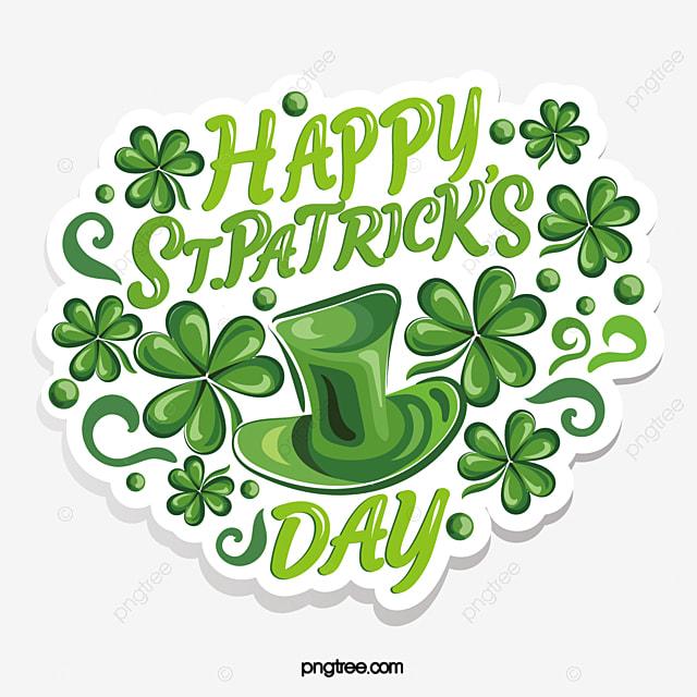 fresh shamrock st patrick s day green logo emblem