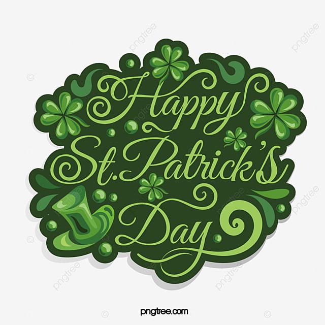 vintage green st patricks day shamrock hat logo