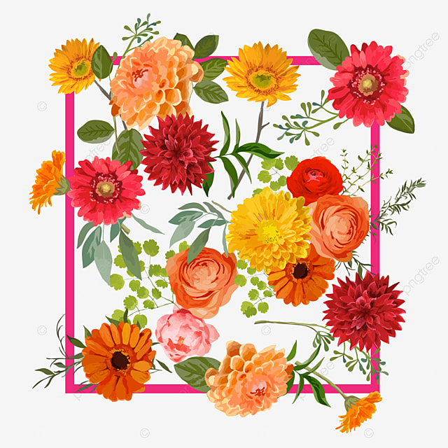 Png files. Spring bouquet Vector flowers Branches clipart 19 Eps Rustic Autumn Flowers