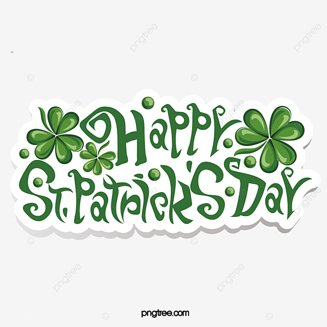 irish patricks day green shamrock logo sticker