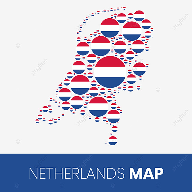 Peta Netherlands Diisi Dengan Lingkaran Berbentuk Bendera Peta Netherlands Dengan Flag Belanda Peta Peta Belanda Png Dan Vektor Dengan Latar Belakang Transparan Untuk Unduh Gratis