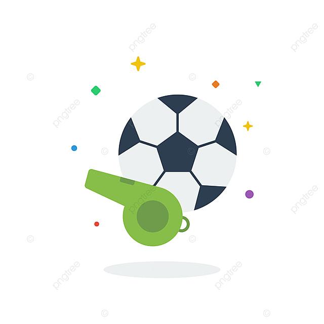 Hình ảnh Bóng đá Bóng Bay độc đáo Còi Biểu Tượng Phẳng Biểu Tượng Cho Trang  Web, Bóng đá, Bóng đá, Sân Vận động Vector và PNG với nền trong suốt để