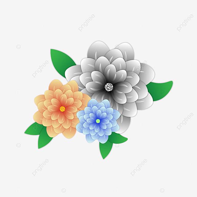 Bunga Kertas Indah Memotong Bunga Bunga Musim Bunga Vektor