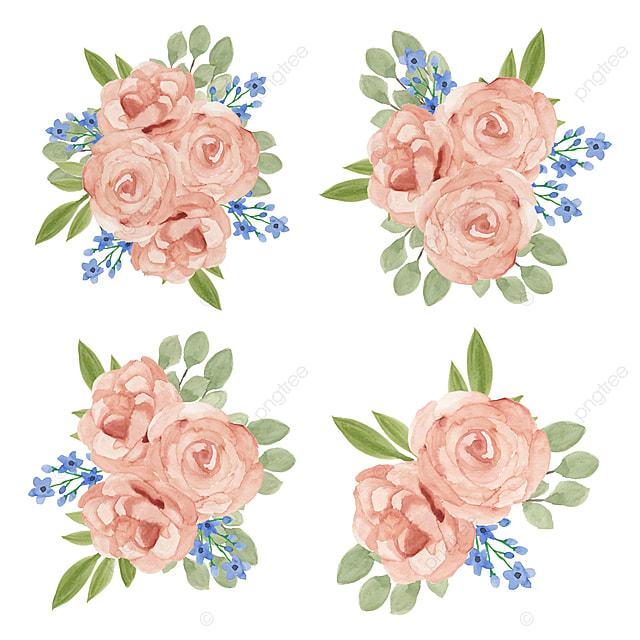 Ilustrasi Set Cat Air Bunga Mawar Vintage Alam Bunga Png Dan Vektor Dengan Latar Belakang Transparan Untuk Unduh Gratis