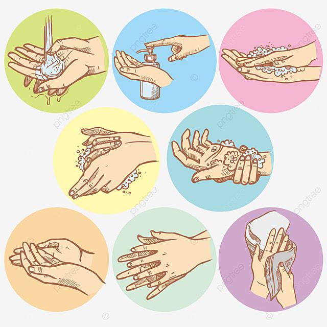 Hands Washing Step Hands Washing Health Png Transparent