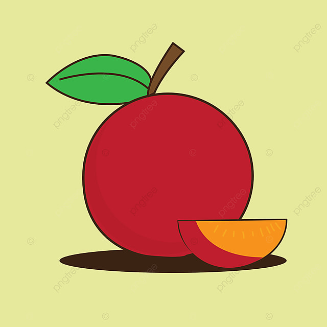 flat illustration peach fruit isolated on plain background suitable for wallpaper banner children book illustration card invitation flyer web design healty food art color cooking png and vector with transparent background for pngtree
