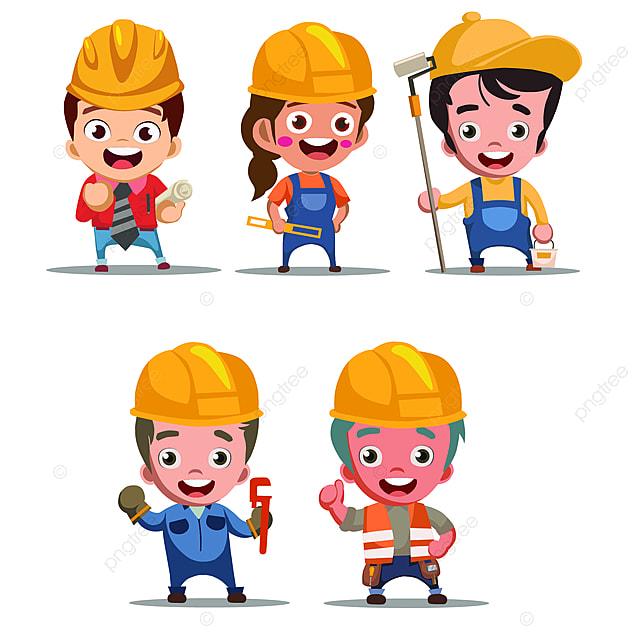 Gambar Reka Bentuk Pekerja Pembinaan Pekerja Pengurus Pekerjaan Png Dan Vektor Untuk Muat Turun Percuma