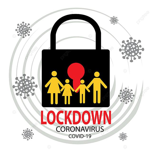Coronavirus Lockdown Symbol Global Pandemic Health Warning ...