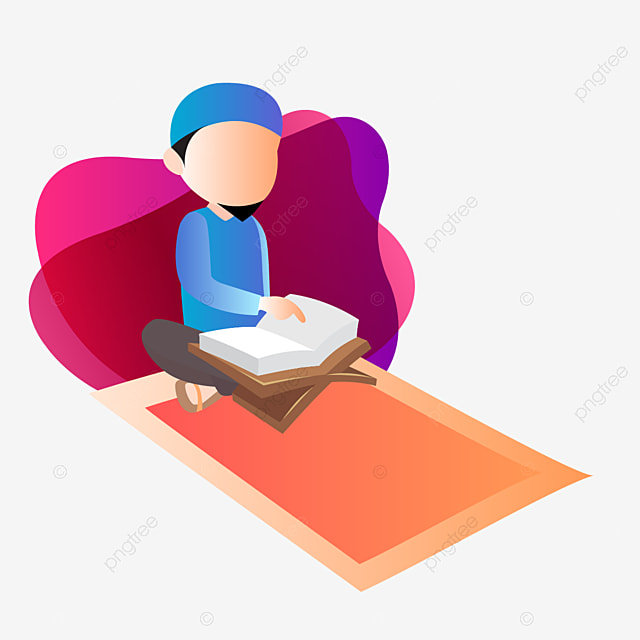 The boy is sitting and reading al quran Clipart | k68249382 | Fotosearch