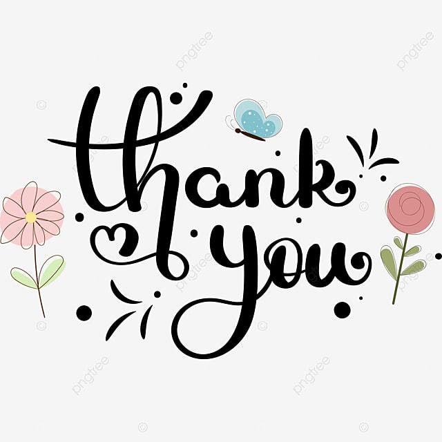Merci Texte Lettrage A La Main Avec Des Fleurs Merci Clipart De Fleurs Vecteur De Fleurs Png Et Vecteur Pour Telechargement Gratuit