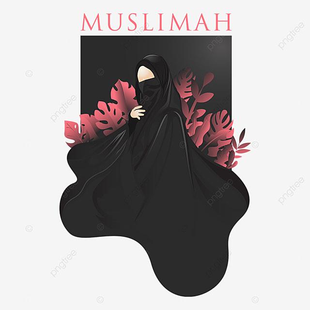 Gambar Kartun Wanita Muslimah Dari Belakang Terbaru Gambar Teks Muslimah Niqab Vektor Yang Dapat Diedit Orang Arab Hitam Kartun Png Dan Vektor Untuk Muat Turun Percuma