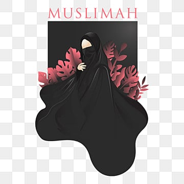 pngtree muslimah niqab vector editable text png image 2165638