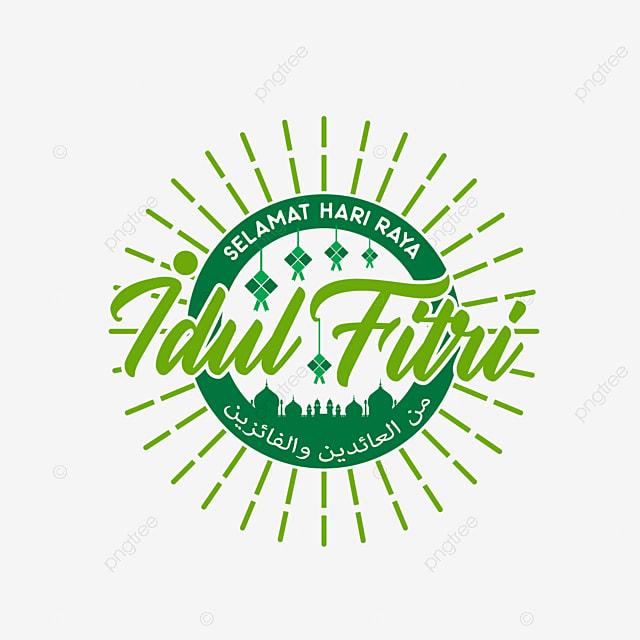 Selamat Hari Raya Idul Fitri: Typography Selamat Hari Raya Idul Fitri, Greeting, Vector