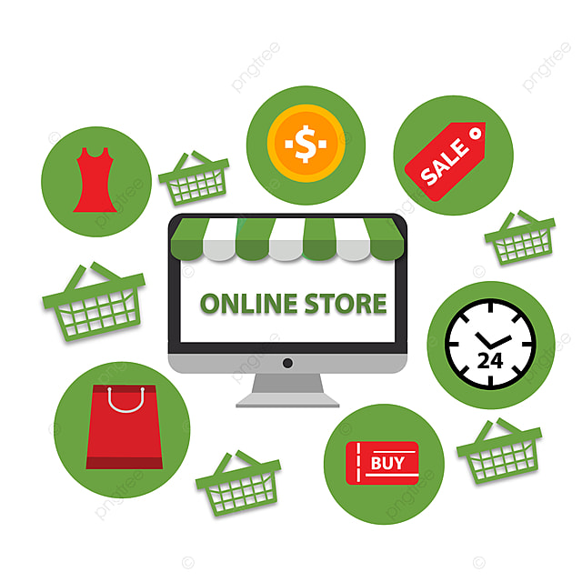 Online Shopping Store Design, Online, Store, Business PNG and Vector with  Transparent Background for Free Download