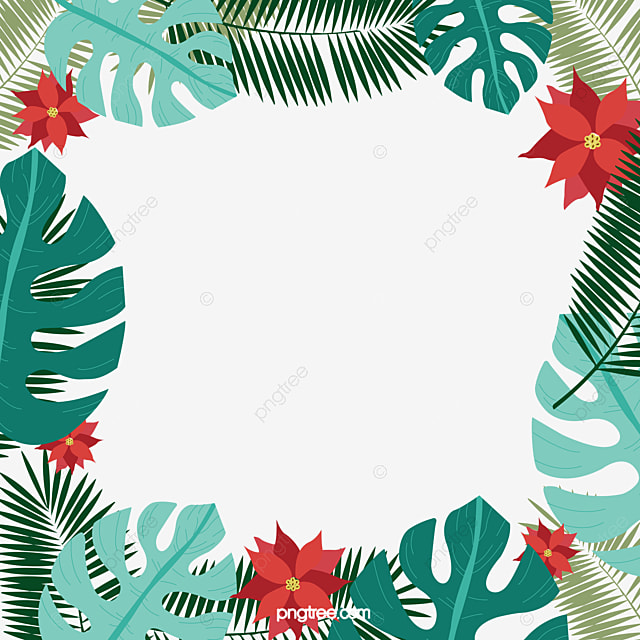 Tropical Leaves Illustration Border Palm Leaf Frame Decoration Png And Vector With Transparent Background For Free Download • winsor & newton artists' professional water colour • kuretake gansai tambi. tropical leaves illustration border