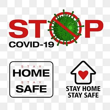 прекратить covid 19 тест остаться дома оставаться в безопасности текст корона осведомленности, клипарт безопасности, Ncp, болезнь PNG ресурс рисунок и векторное изображение