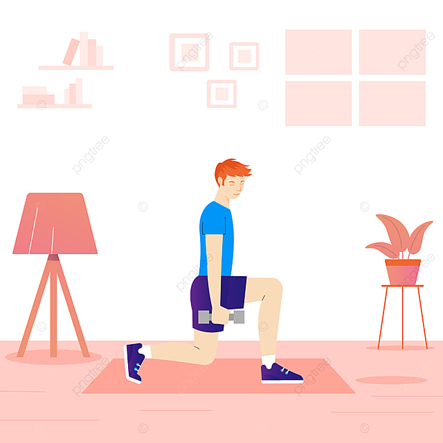 Training At Home Concept Vector, Stay Home, Stay, Home PNG and ...
