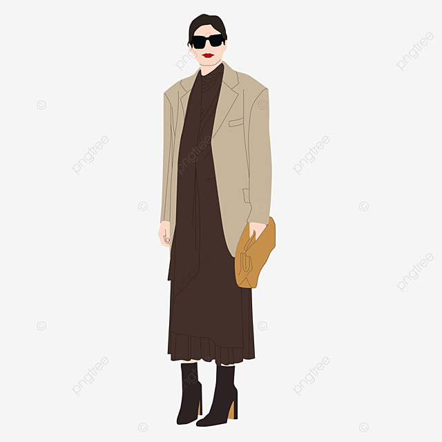женская мода картины в куртках длинные