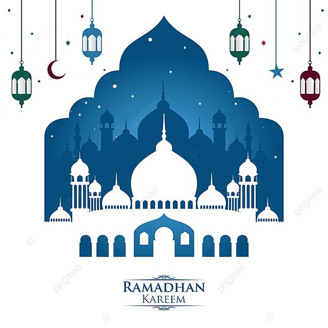 رمضان كريم خلفية بيضاء للمحتوى الخاص بك في شهر الصيام الخلفية العربية الإسلامية Png والمتجهات للتحميل مجانا