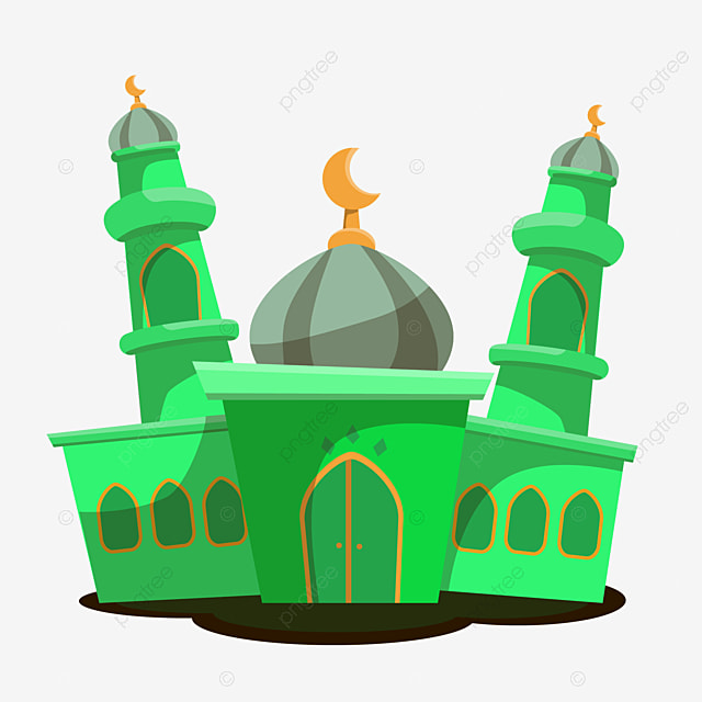 the mosque with green collor mosque ramadhan mooslem png and vector with transparent background for free download the mosque with green collor mosque