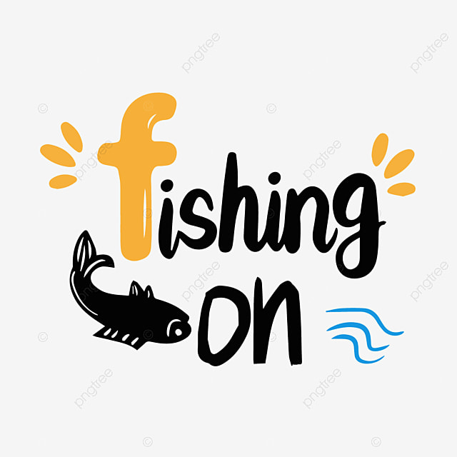 Download Black Color Simple Fishing Svg Art Word Font Effect Eps For Free Download