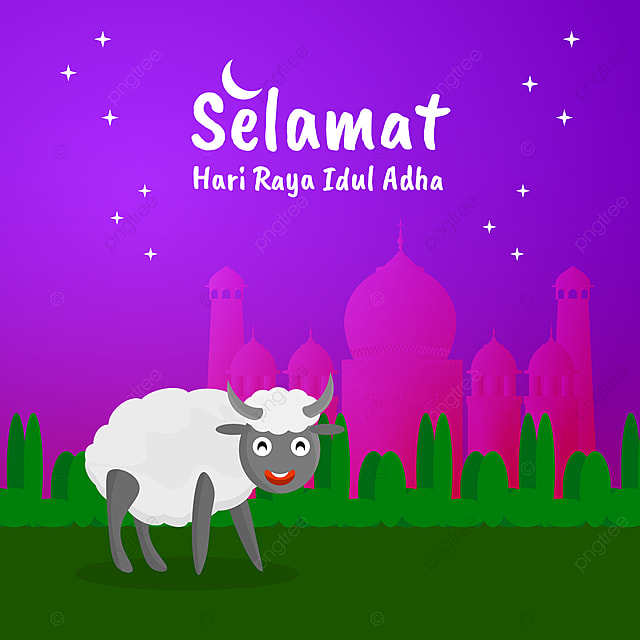Selamat Hari Raya Idul Adha With Cartoon Style Idul Adha Eid Al Adha Selamat Hari Idul Adha Png And Vector With Transparent Background For Free Download