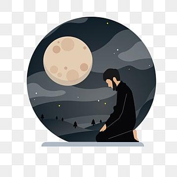 в ночь на рамадан векторные иллюстрации плоский дизайн, араб, фон, вера PNG ресурс рисунок и векторное изображение