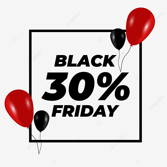 Black Friday Sale Red And Black Balloons With Transparent Background Business Red Sale Png And Vector With Transparent Background For Free Download