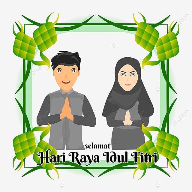 Gambar Pasangan Kartun Muslimah Mengatakan Selamat Hari Raya Idul Fitri Selamat Hari Raya Dan Mubarak Idul Fitri Eid Fitri Eid Png Dan Vektor Untuk Muat Turun Percuma